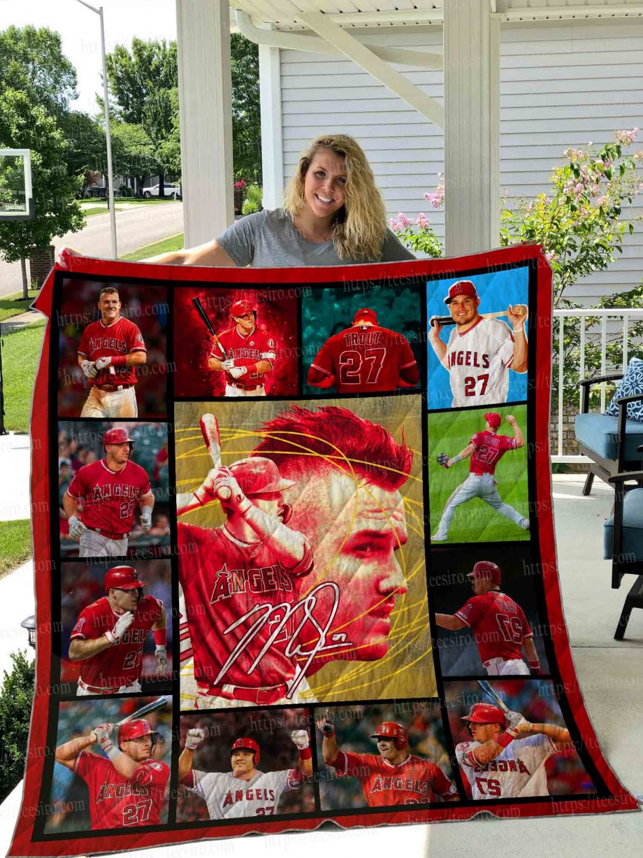 Mike Trout Quilt Blanket 01