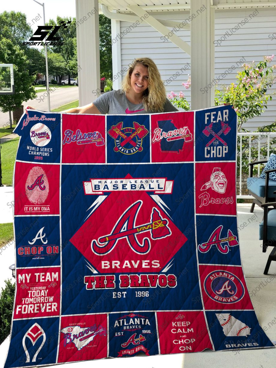 MLB Atlanta Braves quilt blanket