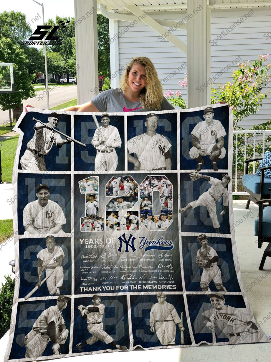 MLB New York Yankees quilt blanket