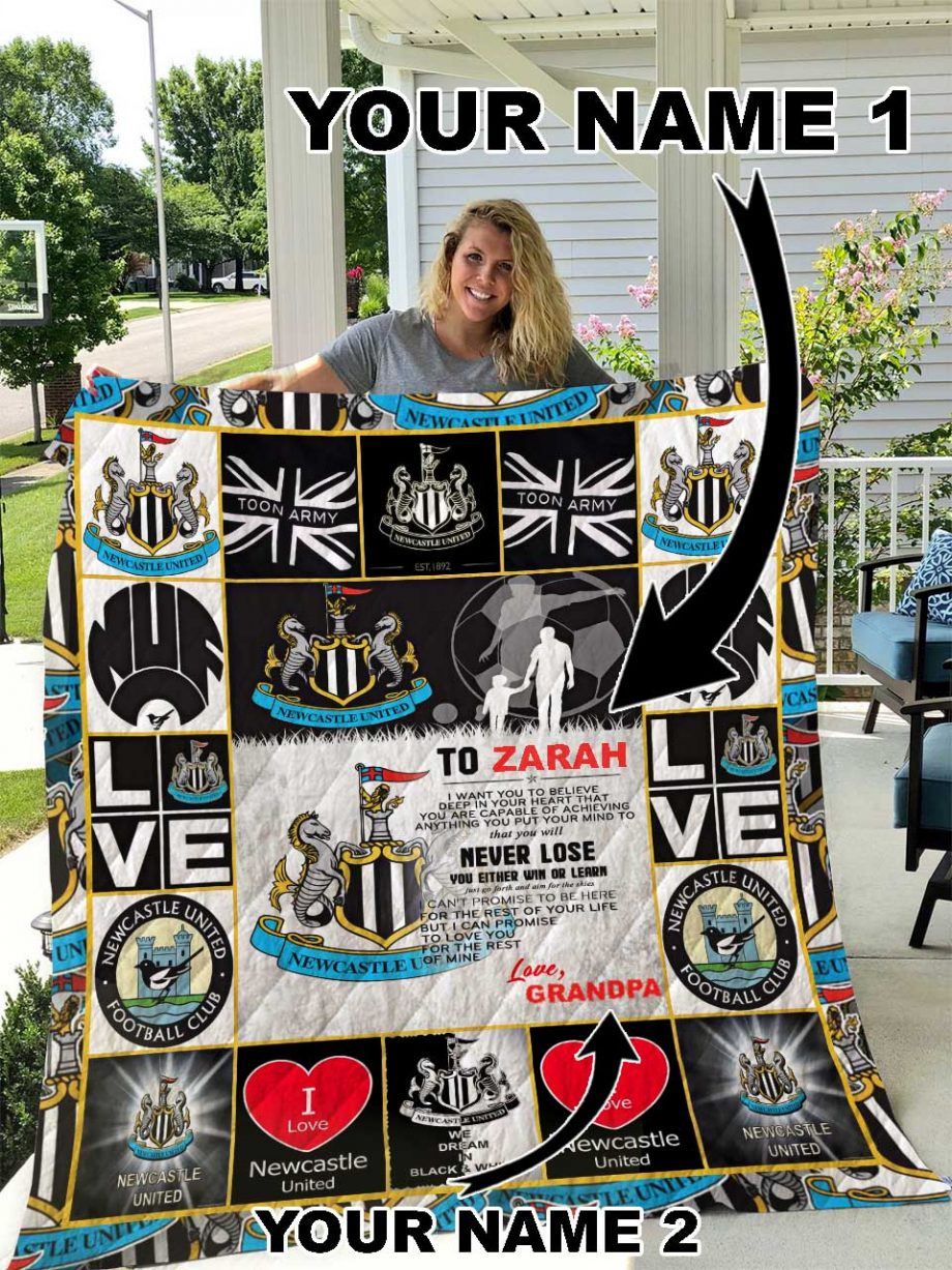 Newcastle United F.C Personalized Name Quilt