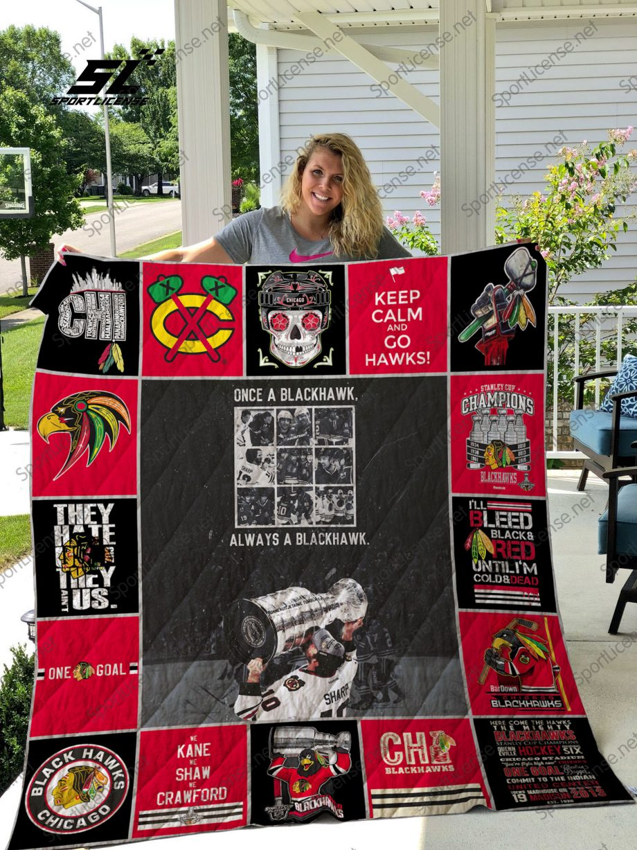 NHL Chicago Blackhawks quilt blanket