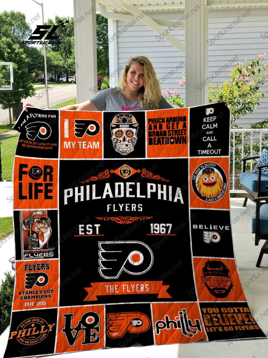 NHL Philadelphia Flyers quilt blanket
