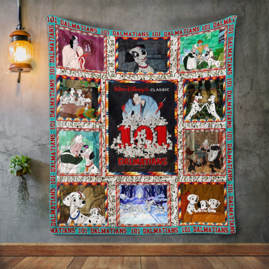 One Hundred and One Dalmatians Quilt Blanket