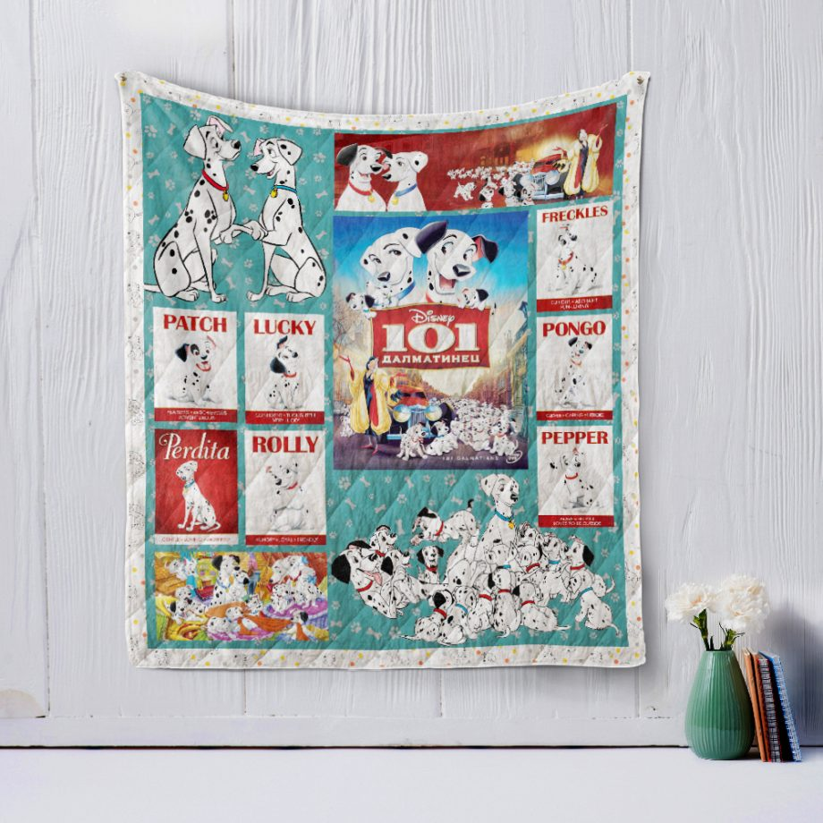 One Hundred and One Dalmatians Style 2 Quilt Blanket