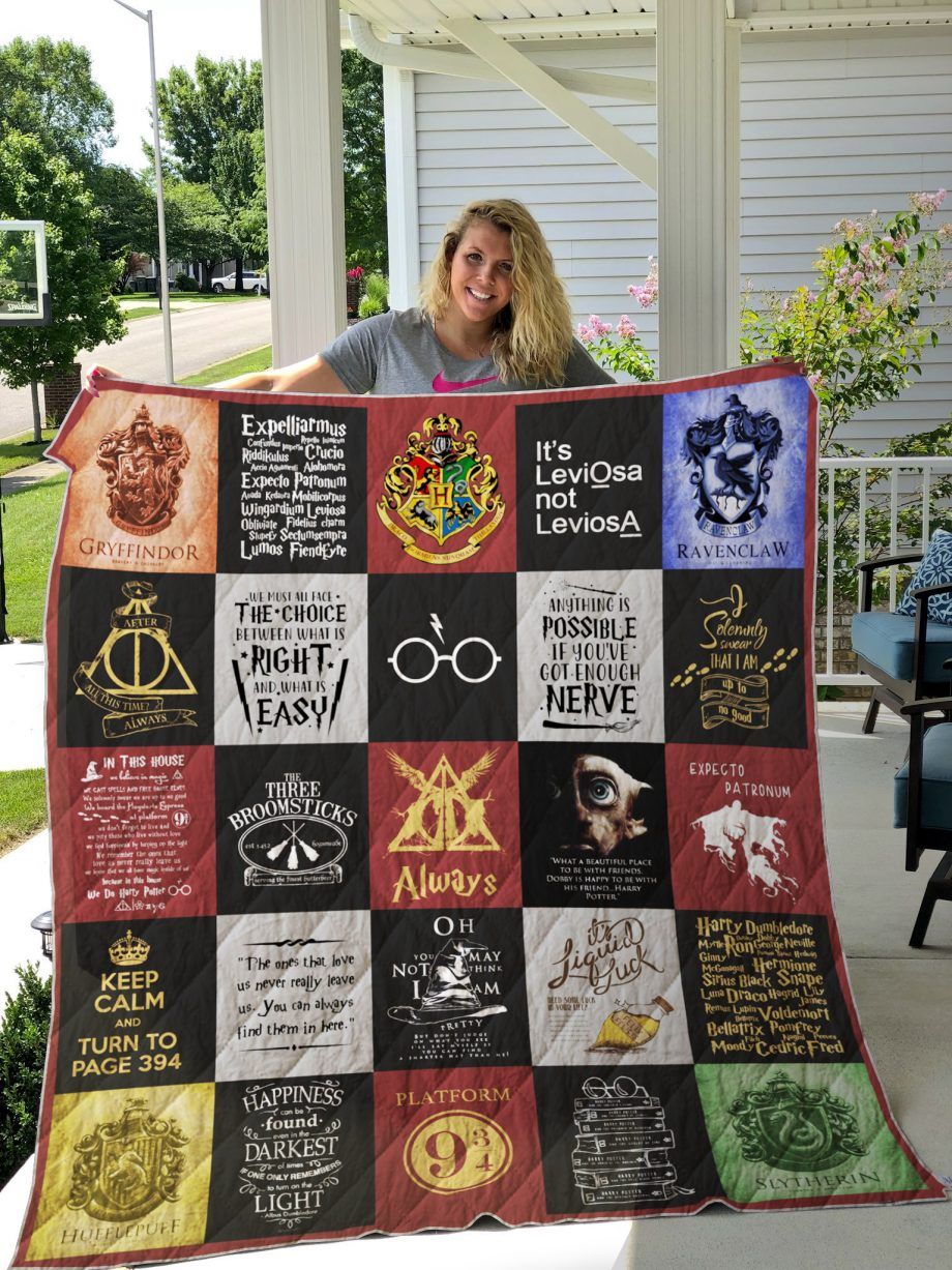 Harry Potter Quilt Blanket Ver 25