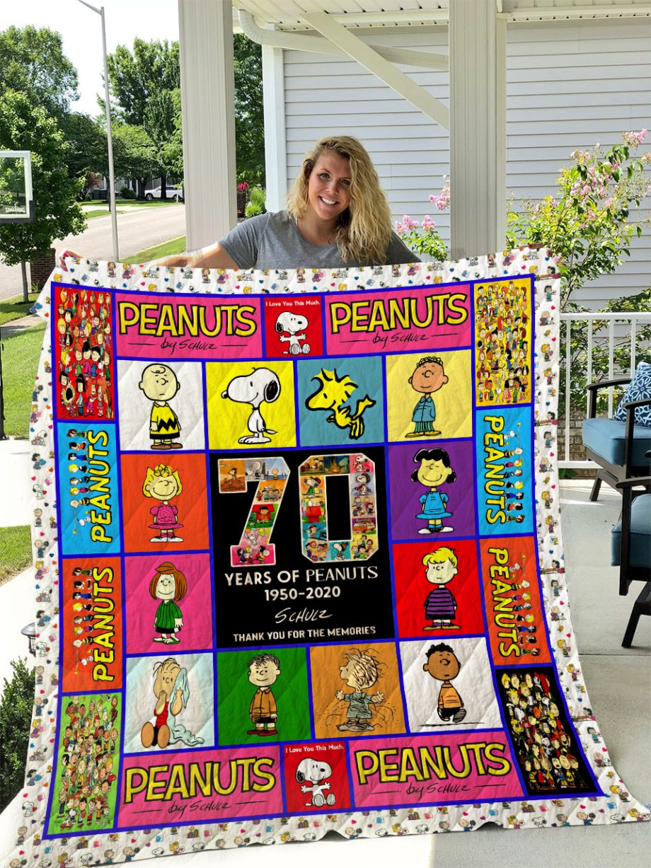 Peanuts 70 Years Quilt Blanket I1D1