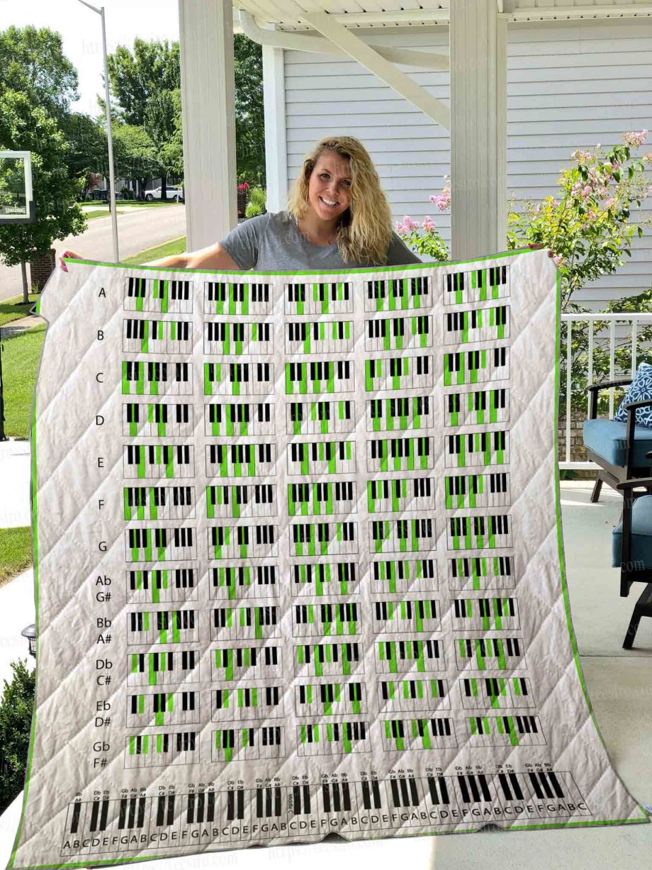 PIANO CHORDS Quilt Blanket 01