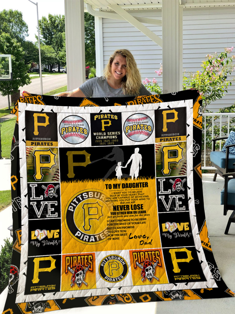 Pittsburgh Pirates  TO MY DAUGHTER  LOVE DAD Quilt KP-240