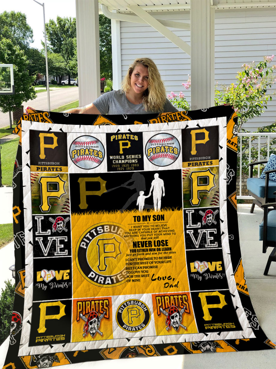 Pittsburgh Pirates  TO MY SON  LOVE DAD Quilt KP-242