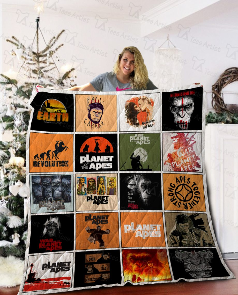 Planet of the Apes Quilt Blanket 02131