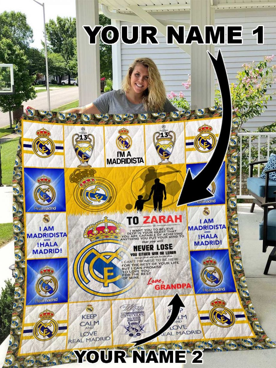 Real Madrid Personalized Name Quilt