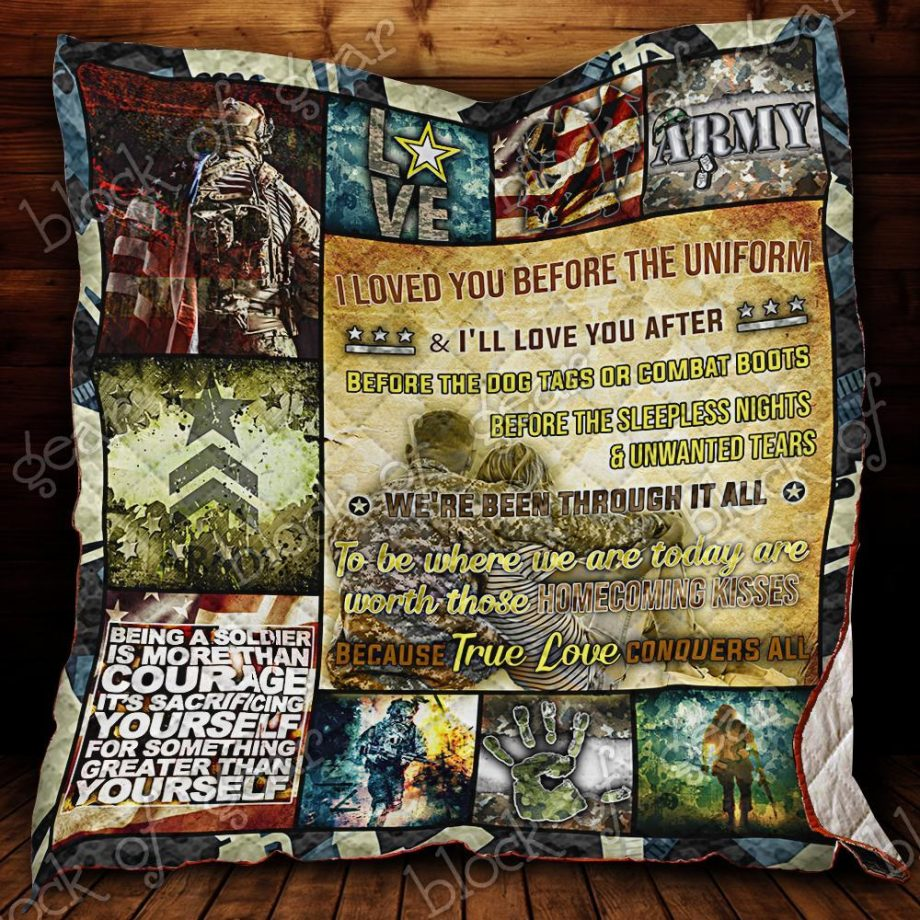 U.S Army Proud Wife Quilt Blanket KC1307