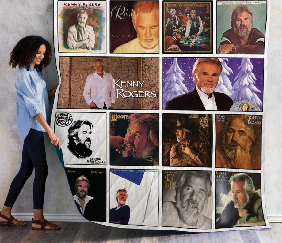 Kenny Rogers Albums Quilt Blanket 01