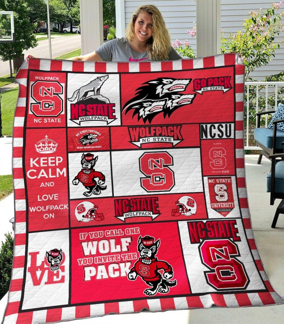 NC State Wolfpack Ver3 Quilt Blanket KPW2506