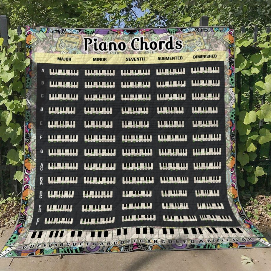 Piano Chords Quilt Blanket KPW2506