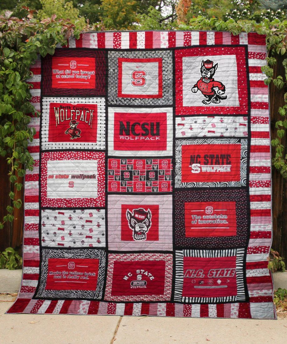 Nc State Wolfpack Quilt Blanket Lv01