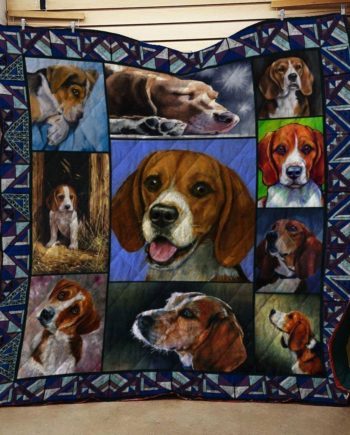 Beagle Dog Quilt Blanket 2