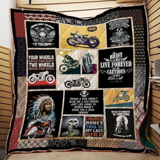 Motorcycles Washable Handmade Quilt 261101