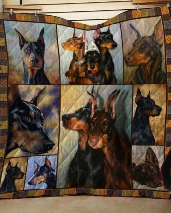 Doberman Pinscher Dog Quilt Blanket
