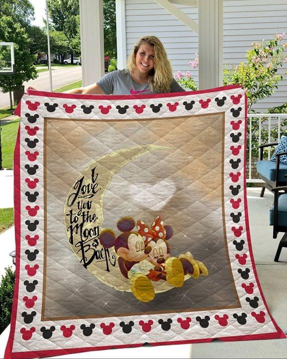Mickey and Minnie Love Moon and back Quilt KP-206