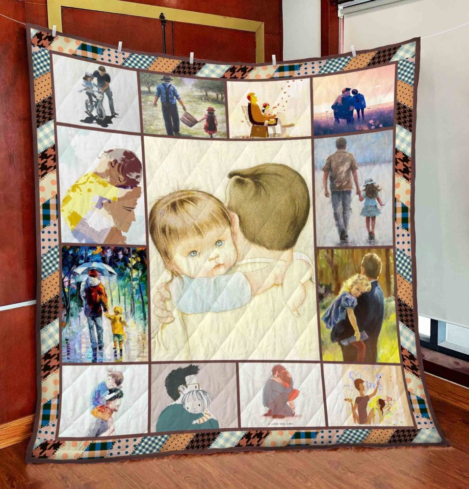 Father And Daughter Best Friends For Life Quilt  KWP0001