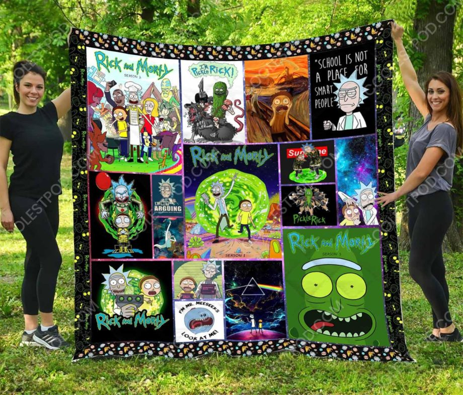 Rick And Morty  Quilt
