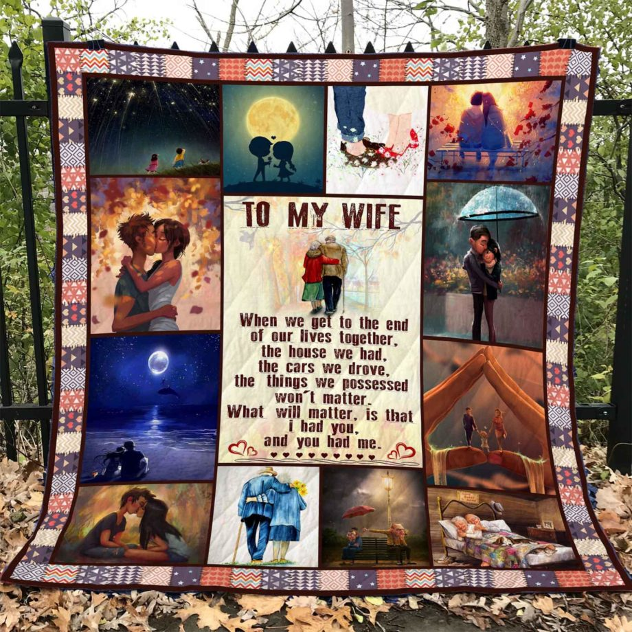 To My Wife  Quilt  KWP0062