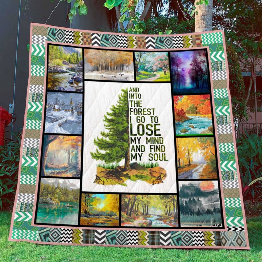 Into The Forest I Go To Lose My Mind & Find My Soul Camping Quilt  KWP0004
