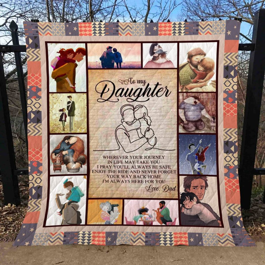 To My Daughter Quilt  KWP0009