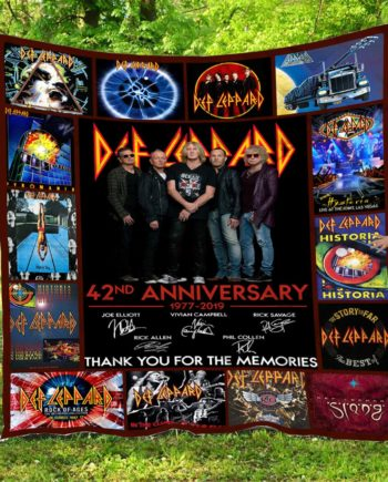 42 Years Of Def Leppard  Quilt