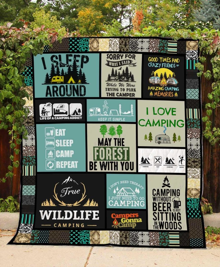 I Love Camping Quilt  KWP0005