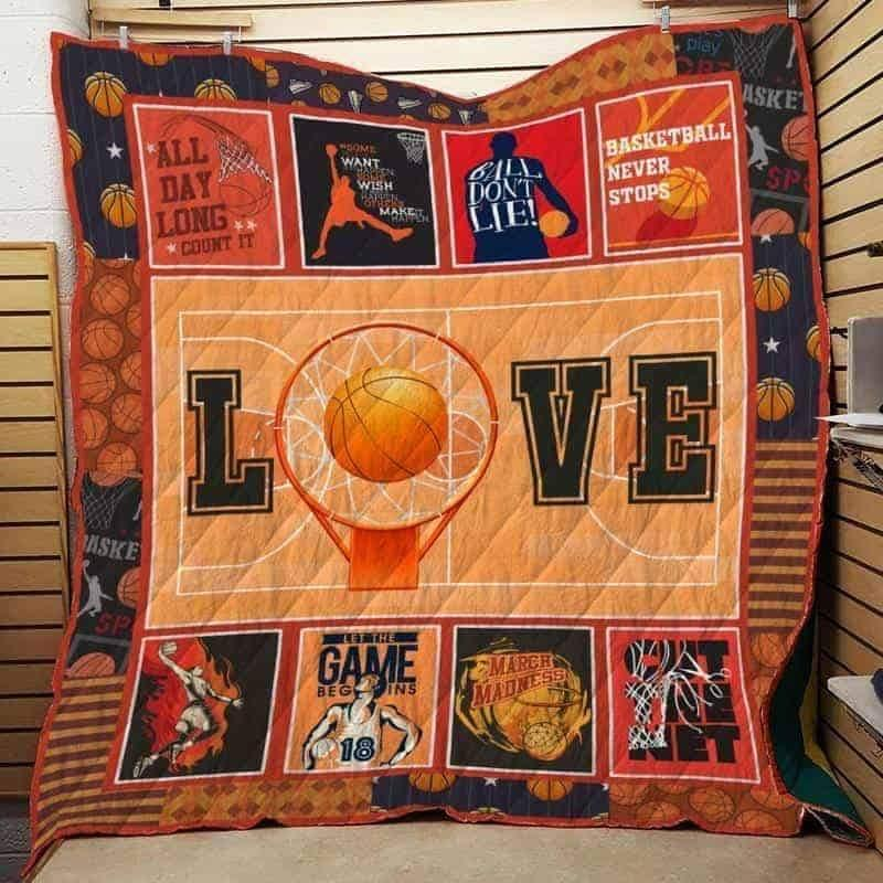 March madness basketball quilt