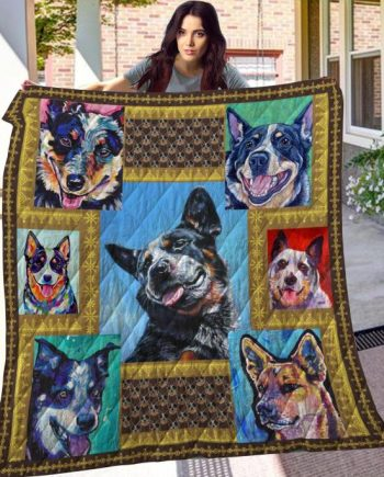 Australian Cattle Dog V2 Quilt Blanket KPW906