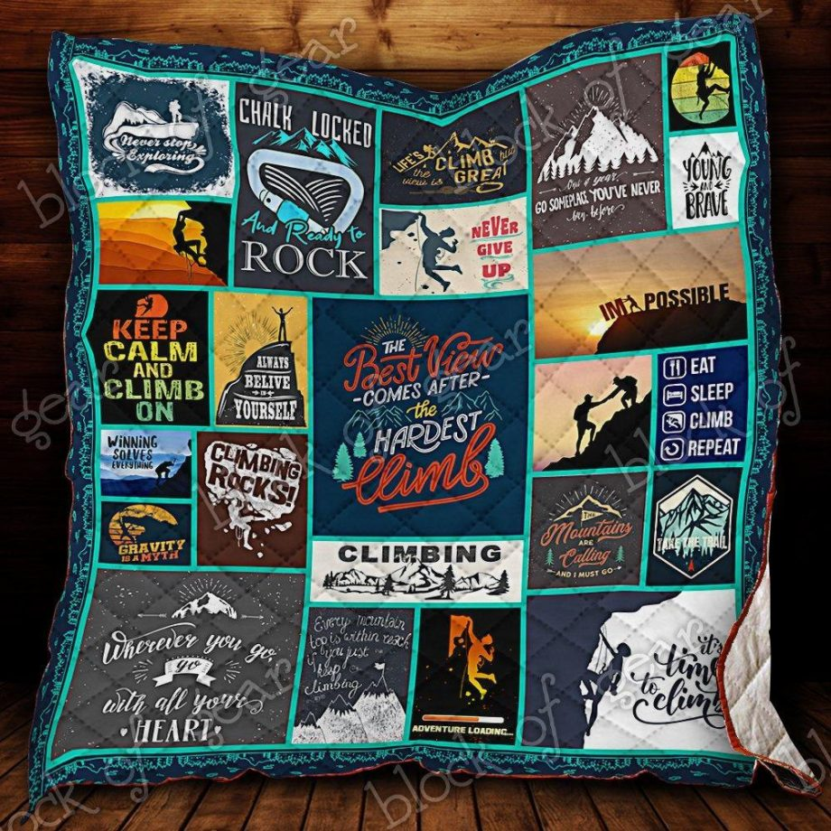 Keep Calm and Climb On Quilt Blanket KC1207