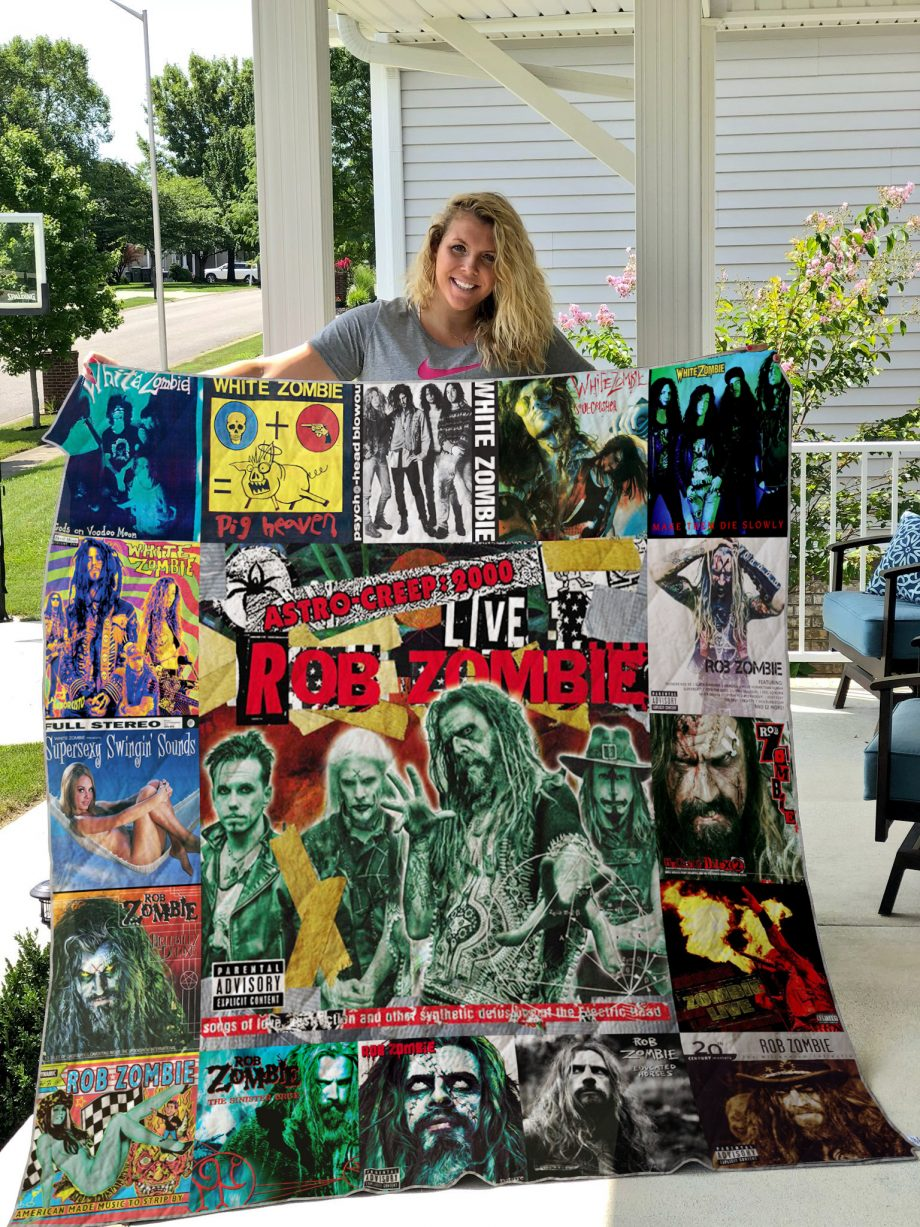 Rob Zombie Style 2 Quilt Blanket