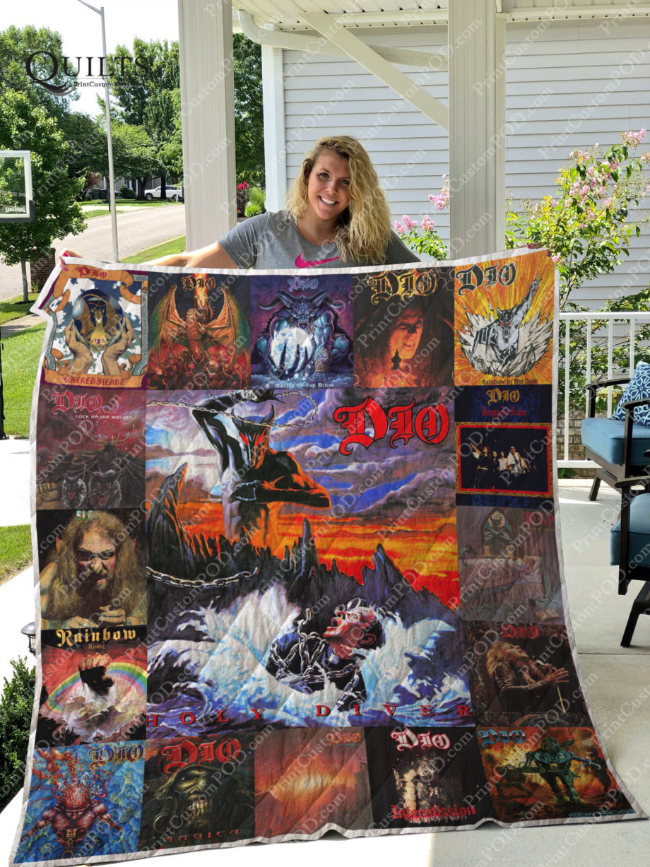 Ronnie James Dio Albums Quilt Blanket For Fans Ver 17 KP-181
