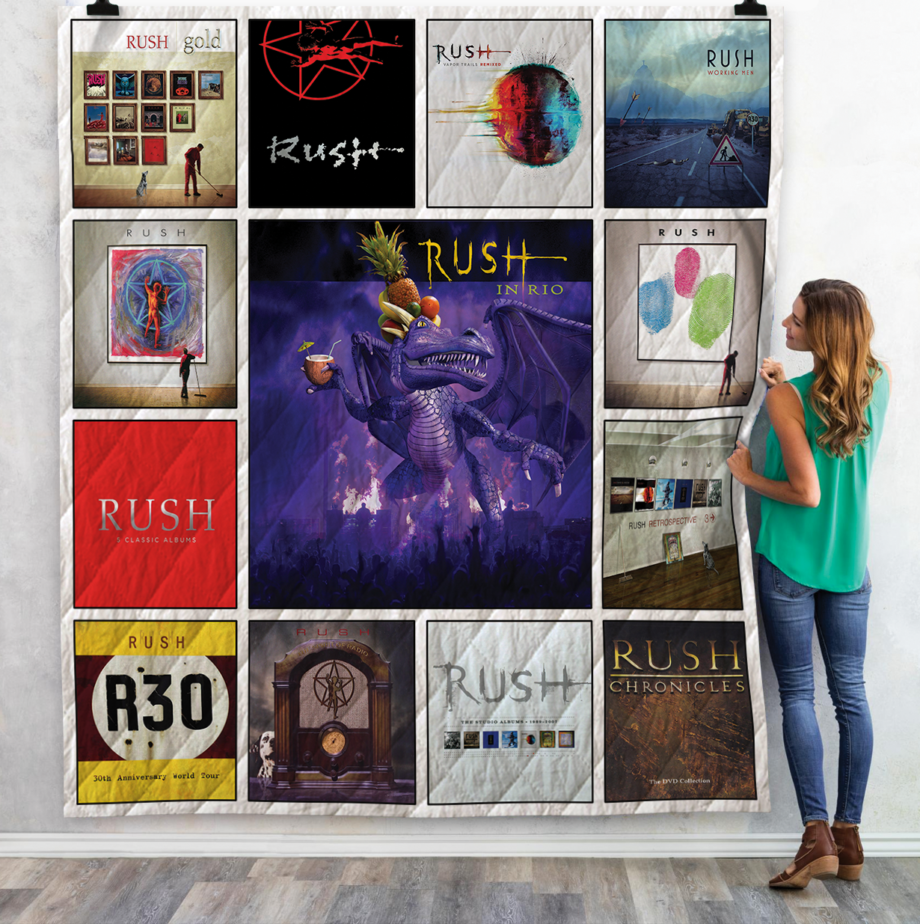 Rush Band Complication Albums Quilt Blanket For Fans