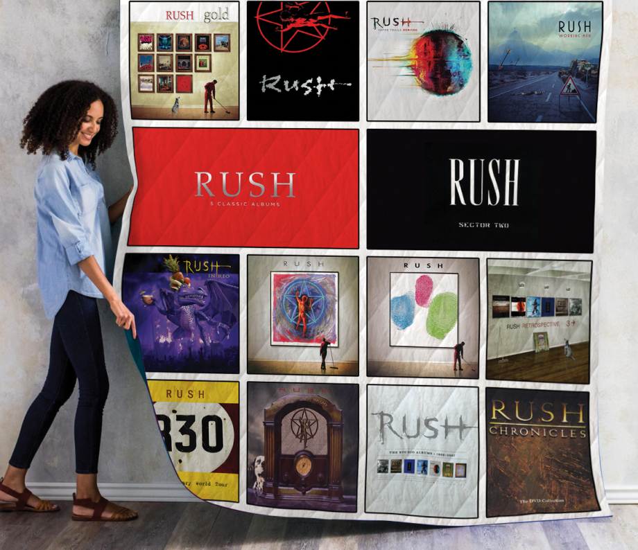 Rush Complication Albums Quilt Blanket New