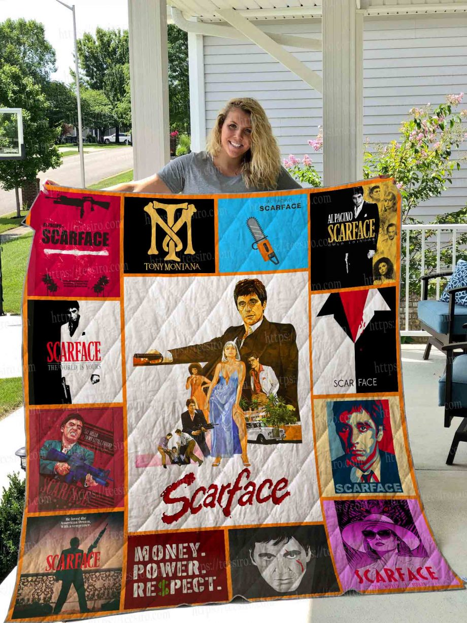 Scarface poster Quilt Blanket 01