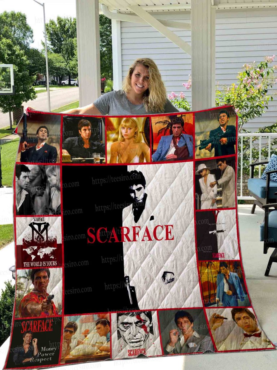 Scarface Quilt Blanket 01
