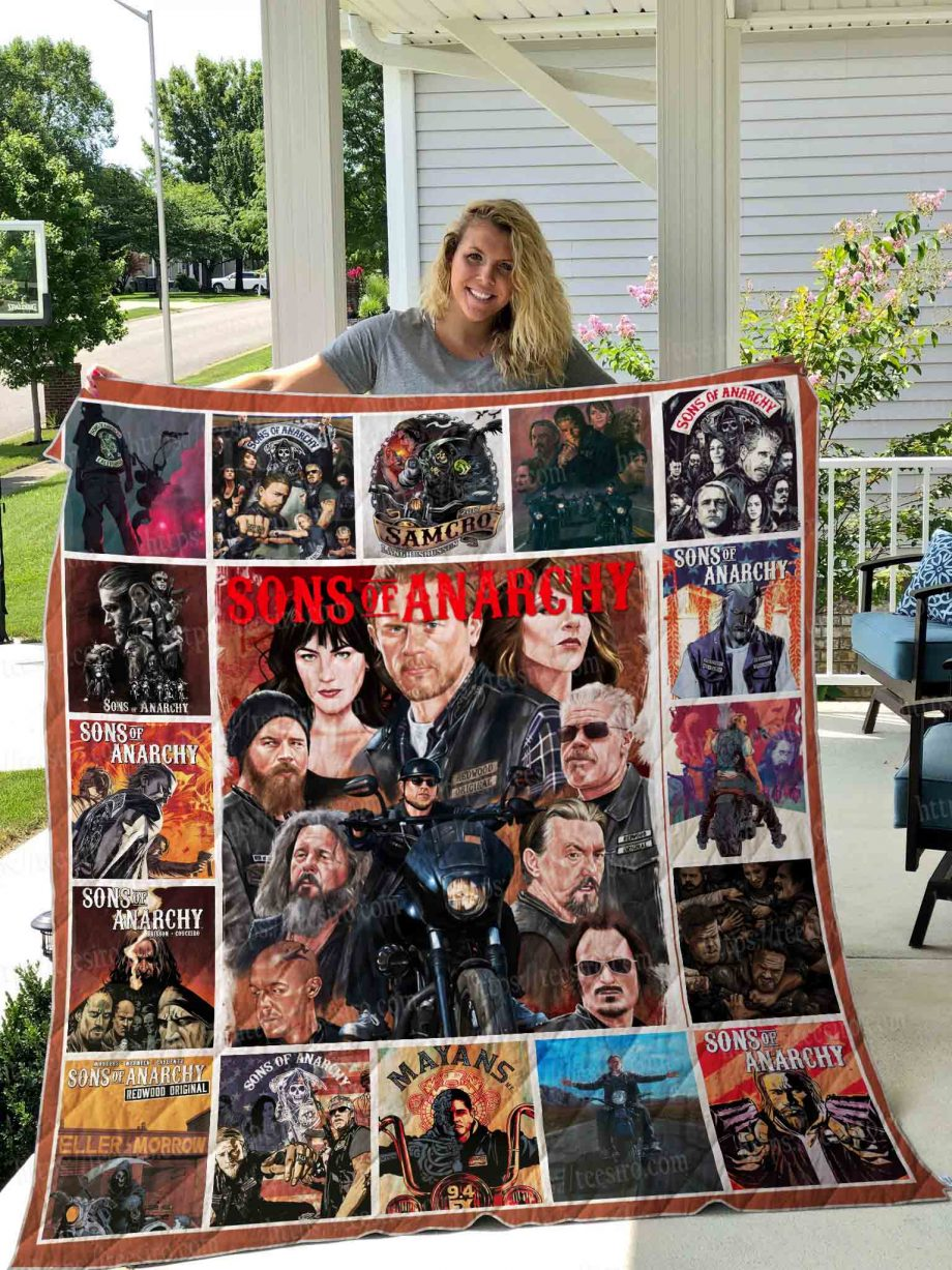 Sons of anarchy illustration Quilt Blanket 01