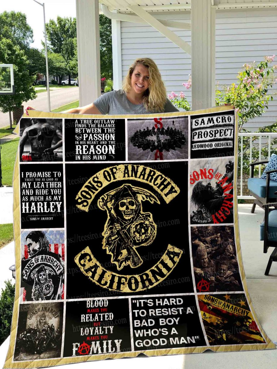 Sons of anarchy Quilt Blanket 01