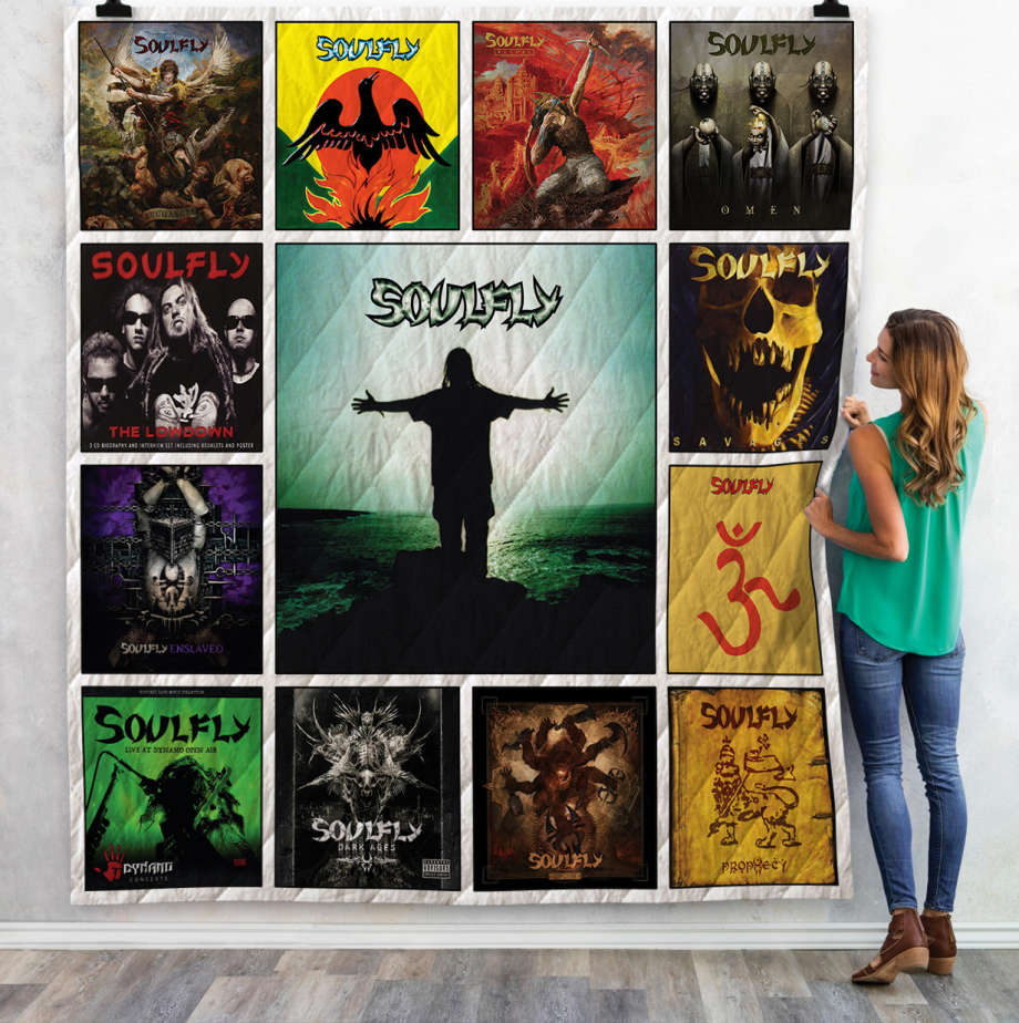 Soulfly Albums Quilt Blanket Ver13