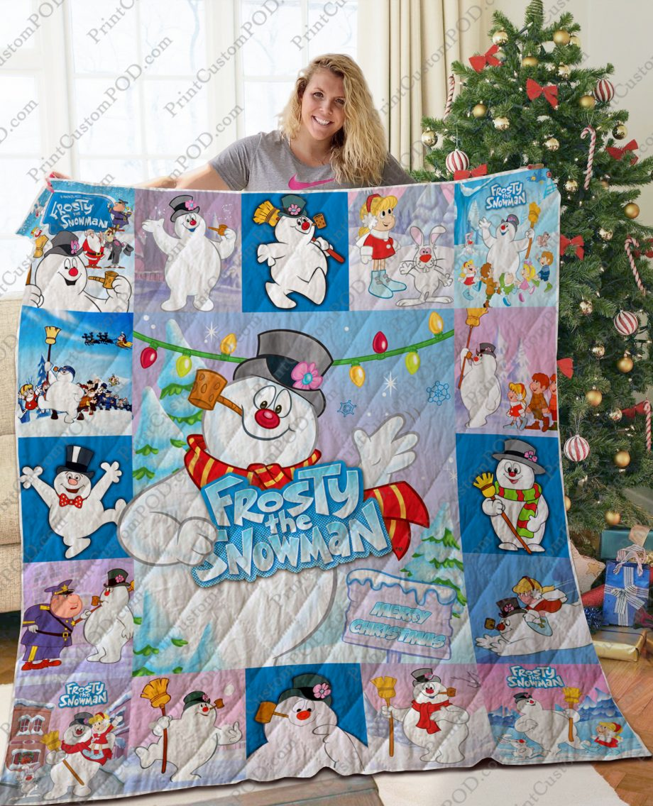 TA Frosty the Snowman Quilt Blanket