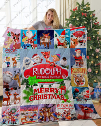 TA  Red Nosed Reindeer Quilt Blanket KP-33