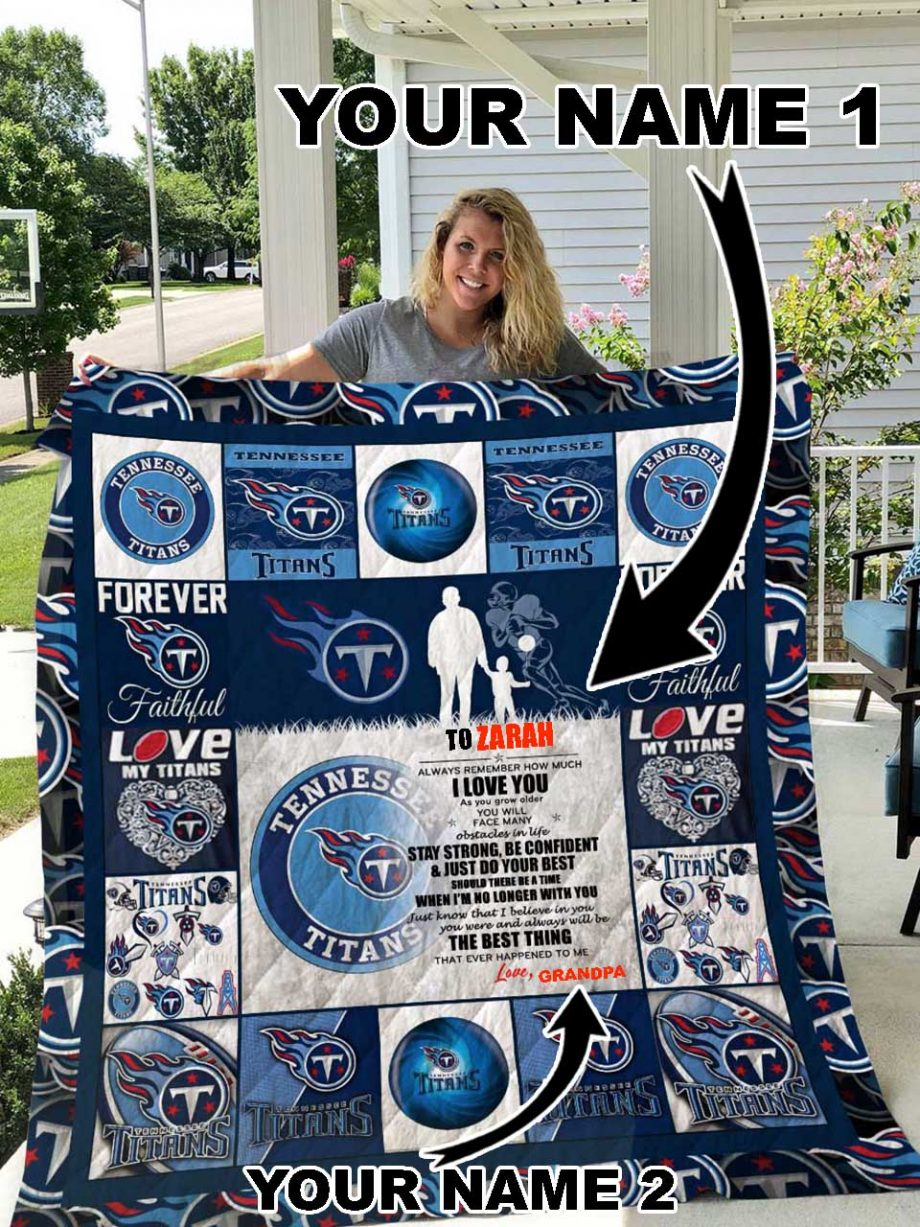 Tennessee Titans Personalized Name Quilt