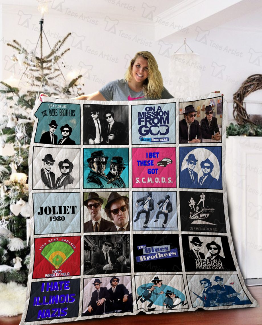 The Blues Brothers Quilt Blanket 02127