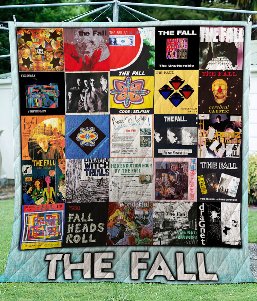 The Fall LP Albums Quilt Blanket