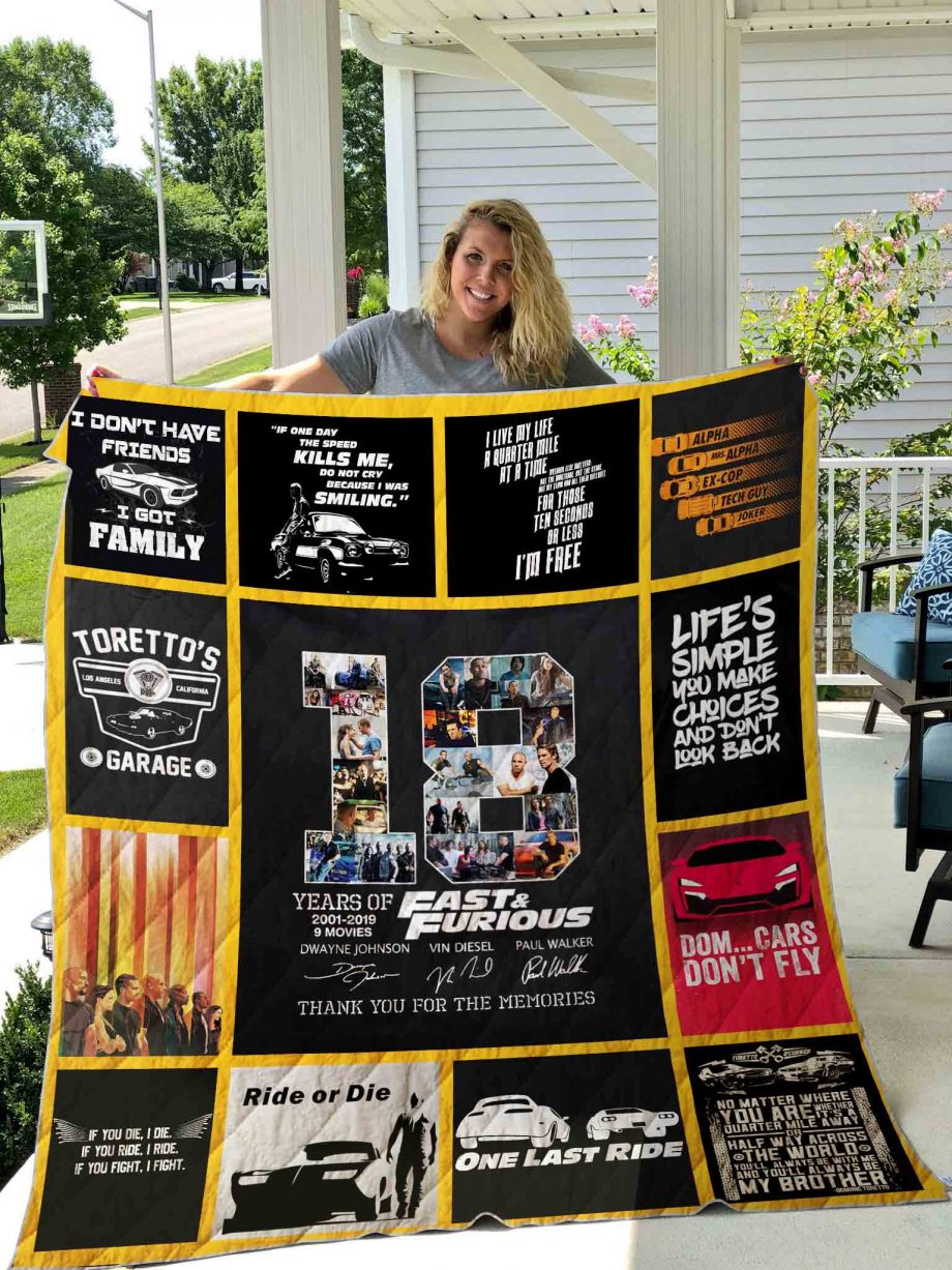 The Fast and the Furious Quilt Blanket 01