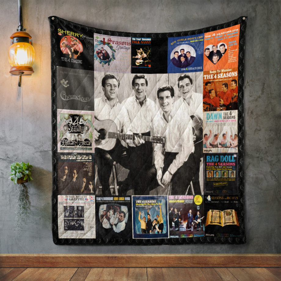 The Four Seasons Album Covers Quilt Blanket
